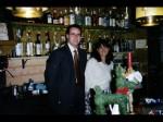 Massimo e Caterina al bar dello Sporhotel Europa di Alleghe.